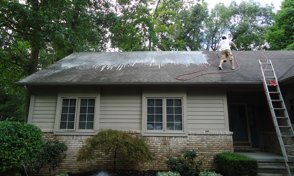 Roof Washing Company in Amityville, Long Island.