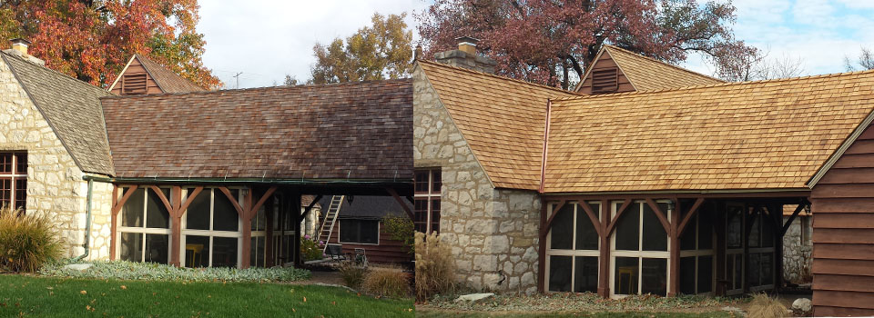Cedar shake and shingle cleaning