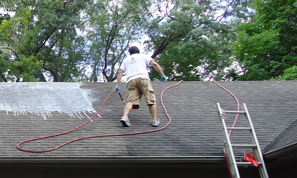 Increase your homes curb appeal by cleaning your roof.